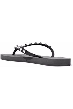 GIUSEPPE ZANOTTI Hollywood studded rubber flip flops