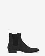 SAINT LAURENT Stivali U WYATT 30 Chelsea ankle boots in asphalt suede f