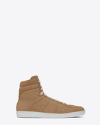 SAINT LAURENT SL/10H U COURT CLASSIC SL/10 sneakers in sand-colored suede f