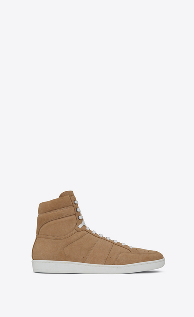 SAINT LAURENT SL/10H U COURT CLASSIC SL/10 sneakers in sand-colored suede a_V4