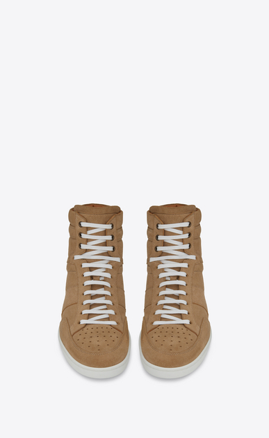 SAINT LAURENT SL/10H U COURT CLASSIC SL/10 sneakers in sand-colored suede b_V4