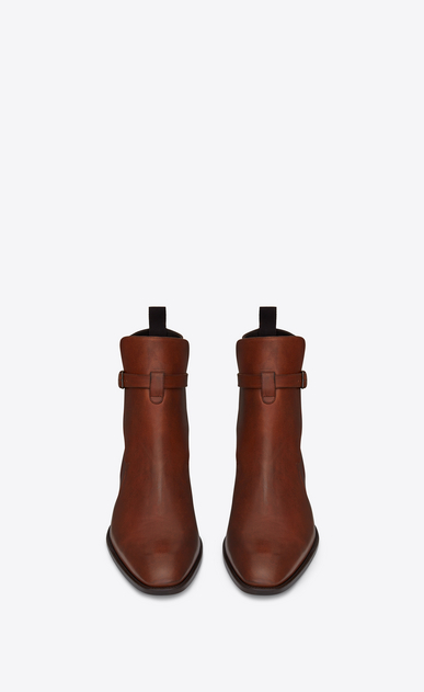 SAINT LAURENT Boots Man WYATT 30 jodhpur boot in caramel leather b_V4