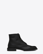 SAINT LAURENT Boots U Army 25 boot in black grained leather f