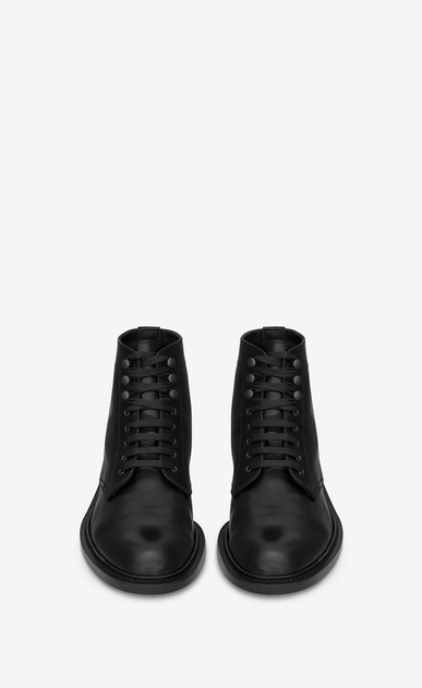 SAINT LAURENT Boots U Army 25 boot in black grained leather b_V4