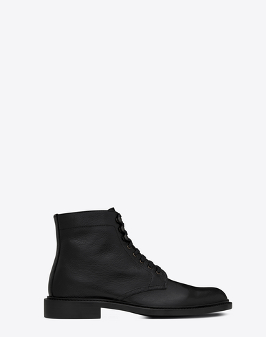 ARMY BOOT IN GRAINED LEATHER