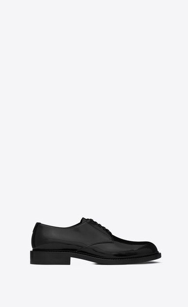 SAINT LAURENT Classic Shoes Man ARMY 25 derby in black leather a_V4