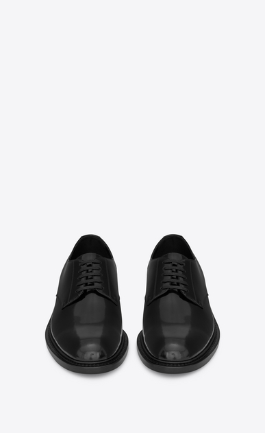 SAINT LAURENT Classic Shoes U ARMY 25 derby in black leather b_V4