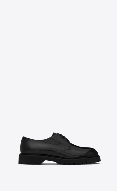 SAINT LAURENT Classic Shoes U LIVERPOOL 25 derby in black leather a_V4