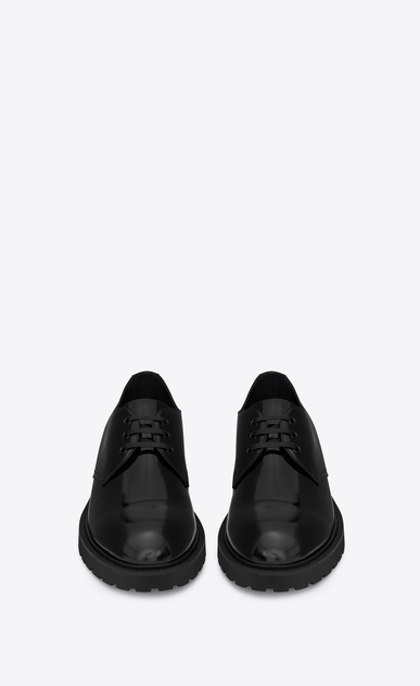 SAINT LAURENT Classic Shoes U LIVERPOOL 25 derby in black leather b_V4
