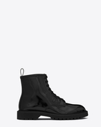 SAINT LAURENT Boots U LIVERPOOL 25 derby in black leather f