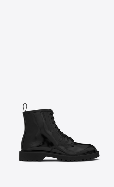 SAINT LAURENT Boots U LIVERPOOL 25 derby in black leather a_V4