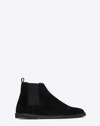 SAINT LAURENT Boots U ORAN 25 Chelsea ankle boot in black suede f