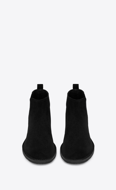 SAINT LAURENT Boots Man ORAN 25 Chelsea ankle boot in black suede b_V4