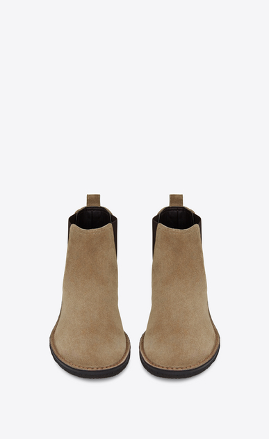 SAINT LAURENT Boots Man oran 25 chelsea ankle boot in beige suede b_V4