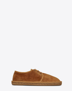 SAINT LAURENT Casual Shoes U Laced espadrille in mustard suede f