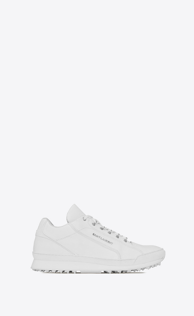 SAINT LAURENT Low Sneakers Man JUMP sneakers in white leather a_V4