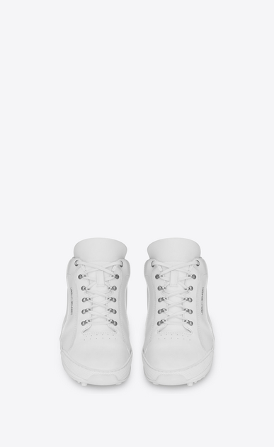 SAINT LAURENT Low Sneakers Man JUMP sneakers in white leather b_V4