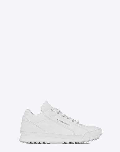 Jump White Leather Sneakers With Used Effect