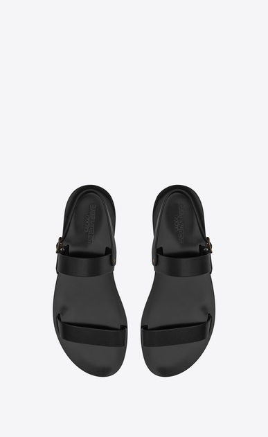 SAINT LAURENT Casual Shoes U Sandale NU-PIEDS en cuir noir b_V4