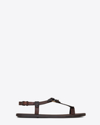 SAINT LAURENT Casual Shoes U NU-PIEDS sandal in copper leather f
