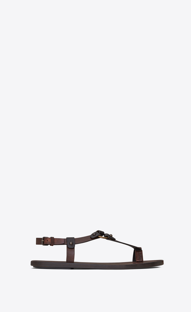 SAINT LAURENT Casual Shoes U NU-PIEDS sandal in copper leather a_V4