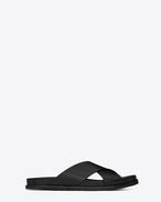 SAINT LAURENT Casual Shoes U JIMMY sandal in black leather f