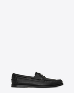 SAINT LAURENT Classic Shoes U DECK 20 loafers in black moroder leather f