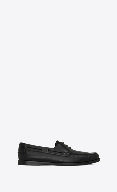 SAINT LAURENT Classic Shoes Man DECK 20 loafers in black moroder leather a_V4