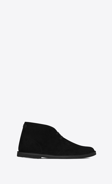 SAINT LAURENT Boots Man Oran 25 ankle boot in black suede a_V4