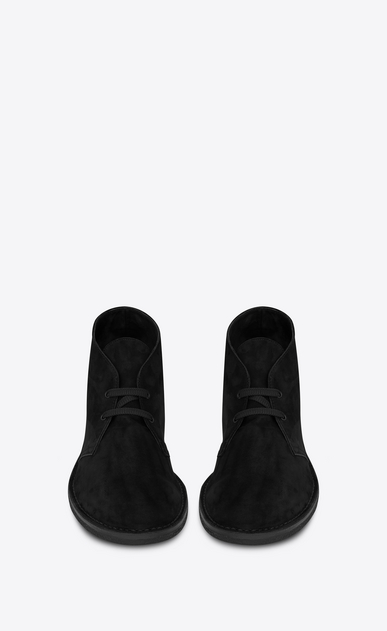 SAINT LAURENT Boots Man Oran 25 ankle boot in black suede b_V4