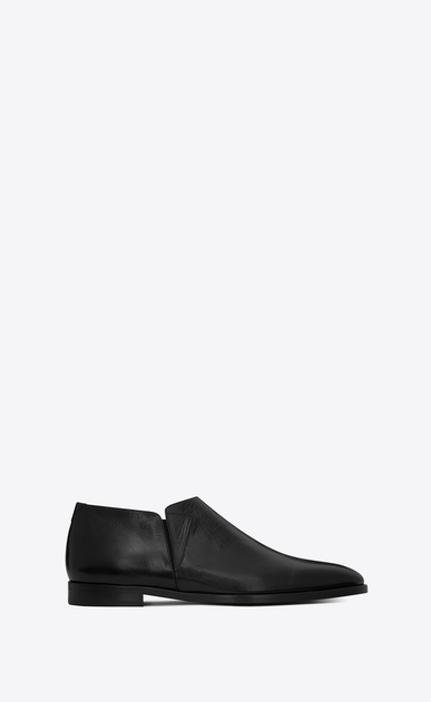 SAINT LAURENT Classic Shoes U SLIM 15 slipper in black leather a_V4