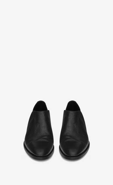 SAINT LAURENT Classic Shoes Man SLIM 15 slipper in black leather b_V4