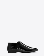 SAINT LAURENT Classic Shoes U SLIM 10 slipper in black patent leather f