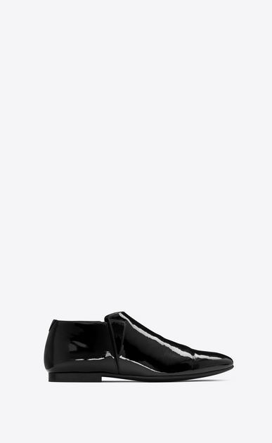 SAINT LAURENT Classic Shoes U SLIM 10 slipper in black patent leather a_V4
