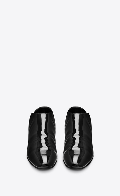 SAINT LAURENT Classic Shoes U SLIM 10 slipper in black patent leather b_V4