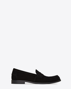 SAINT LAURENT Classic Shoes U UNIVERSITE 20 loafers in black suede f