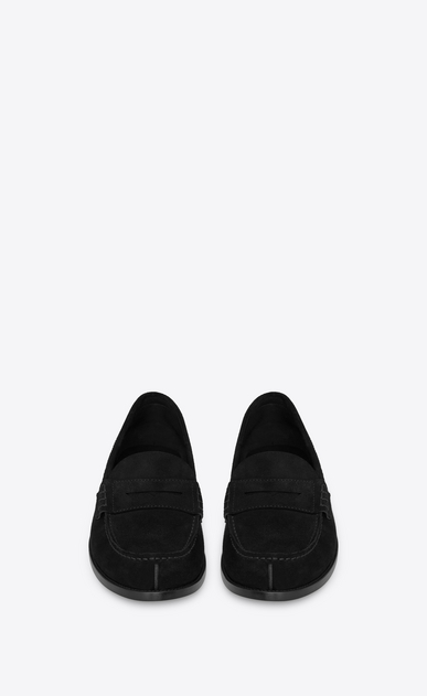 SAINT LAURENT Classic Shoes Man université 20 loafers in black suede b_V4