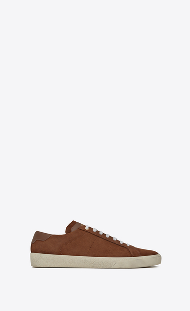 SAINT LAURENT SL/06 U COURT CLASSIC SL/06 sneakers in cigar suede a_V4