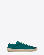 SAINT LAURENT SL/06 U COURT CLASSIC SL/06 sneakers in suede and green leather f