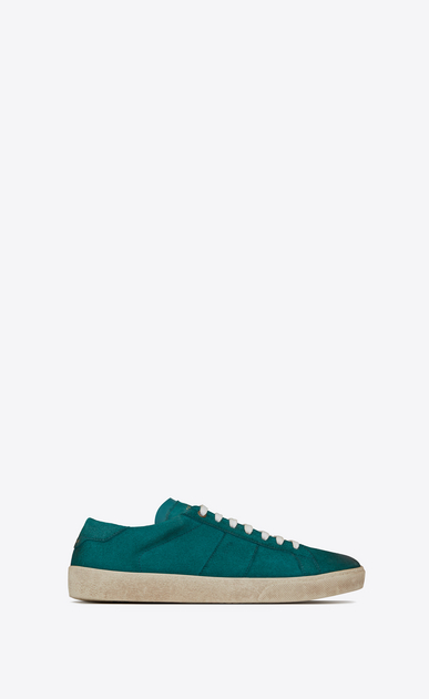 SAINT LAURENT SL/06 U COURT CLASSIC SL/06 sneakers in suede and green leather a_V4