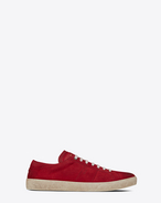 SAINT LAURENT SL/06 U COURT CLASSIC SL/06 sneakers in suede and red leather f