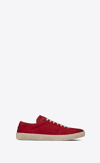 SAINT LAURENT SL/06 メンズ court sl/06 sneakers in suede and red leather a_V4