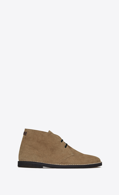 SAINT LAURENT Boots U Oran 25 ankle boot in cigar suede a_V4