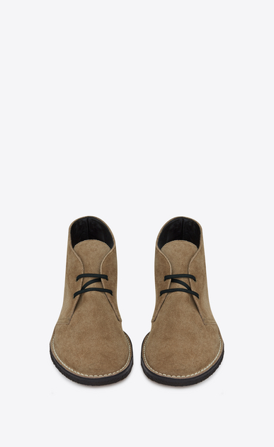 SAINT LAURENT Boots U Oran 25 ankle boot in cigar suede b_V4