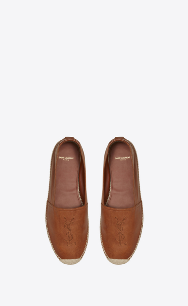 SAINT LAURENT Casual Shoes Man espadrille in cognac leather b_V4