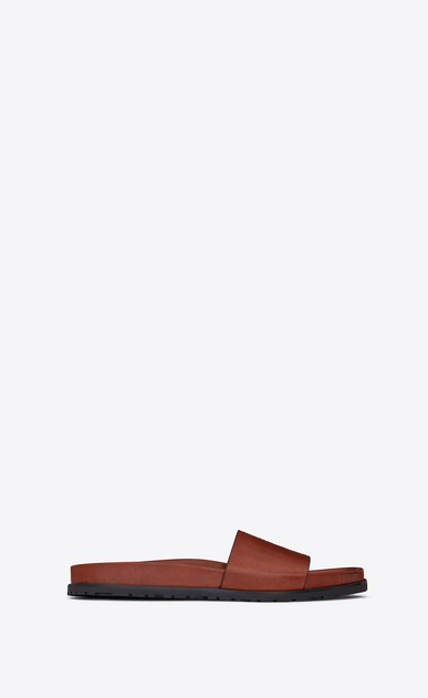 SAINT LAURENT Casual Shoes Man JIMMY sandal in caramel leather a_V4