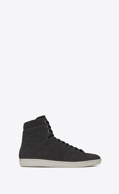 SAINT LAURENT SL/10H U COURT CLASSIC SL/10H sneakers in asphalt suede a_V4