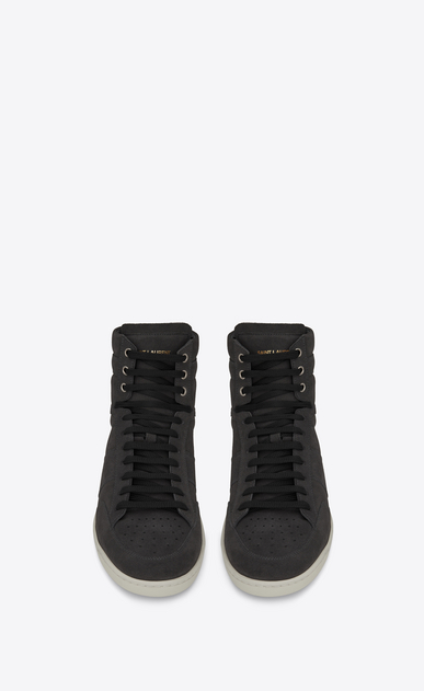 SAINT LAURENT SL/10H U COURT CLASSIC SL/10H sneakers in asphalt suede b_V4