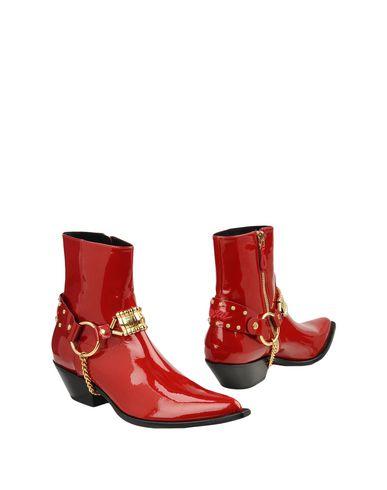 Купить Полусапоги и высокие ботинки красного цвета