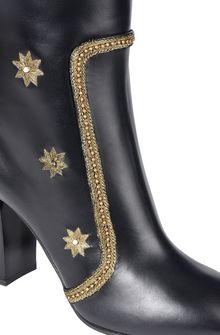 ALBERTA FERRETTI Boots with gold embroidery BOOTS D e
